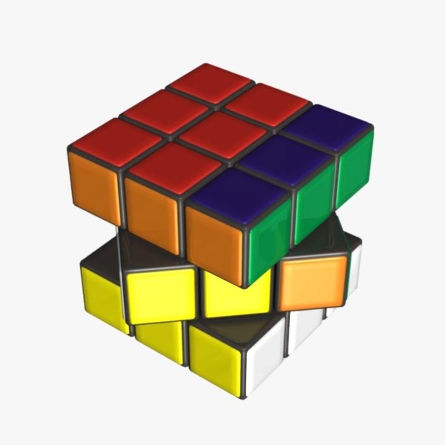 Rubik cube royalty-free 3d model - Preview no. 6