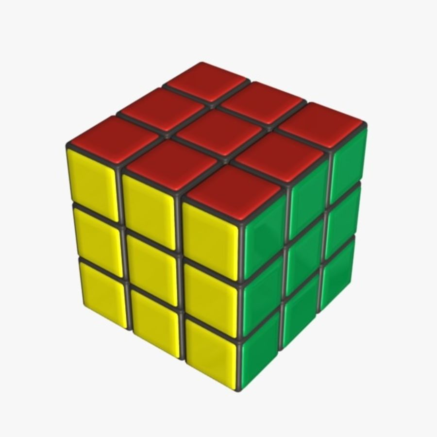 Rubik cube royalty-free 3d model - Preview no. 2