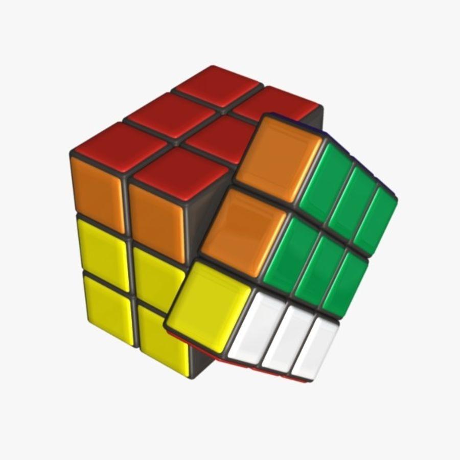 Rubik cube royalty-free 3d model - Preview no. 5