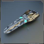 Statek kosmiczny 3d model