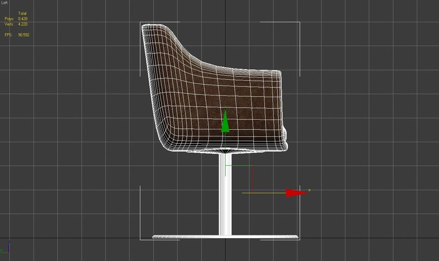 Chair 001 royalty-free 3d model - Preview no. 7