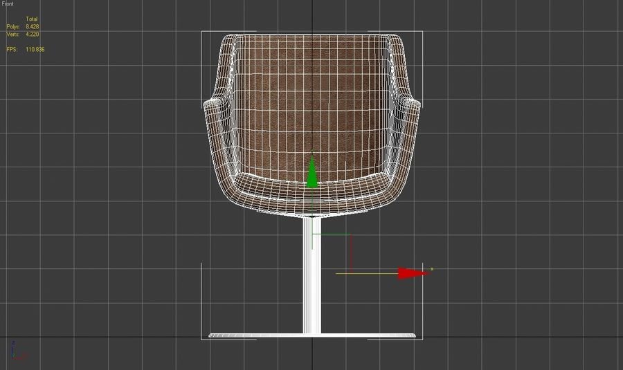 Chair 001 royalty-free 3d model - Preview no. 6