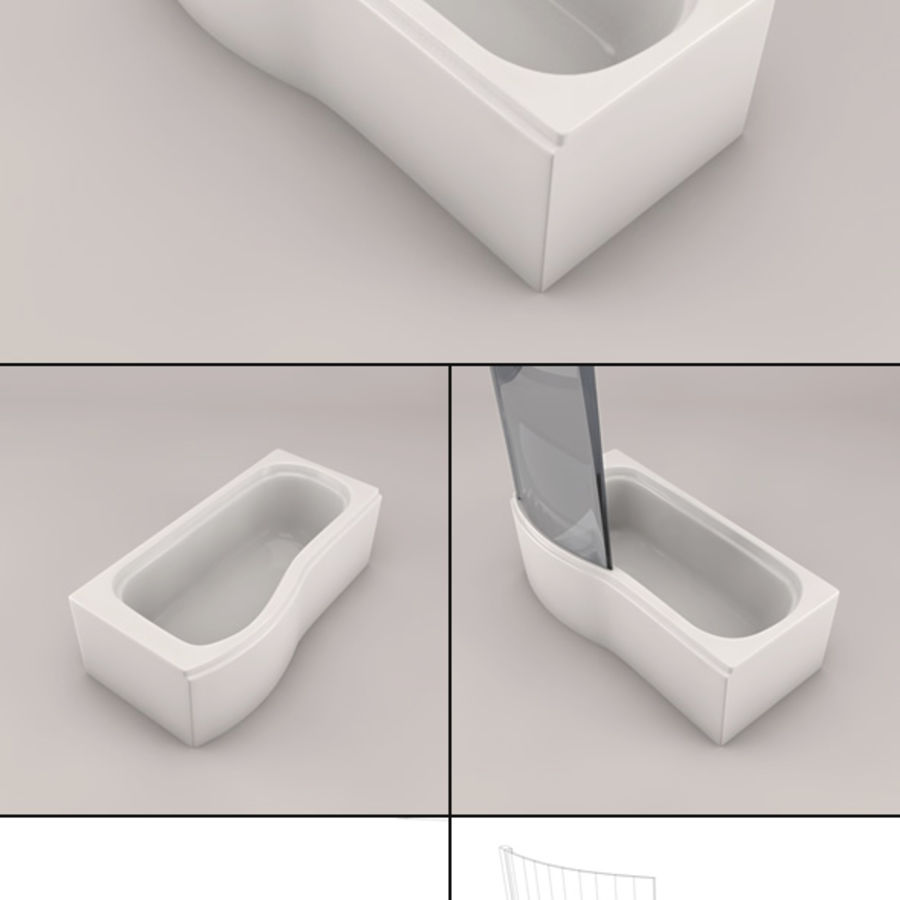 Banho de banheira royalty-free 3d model - Preview no. 10