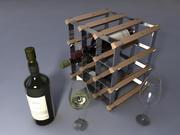 Şarap Takımı 3d model
