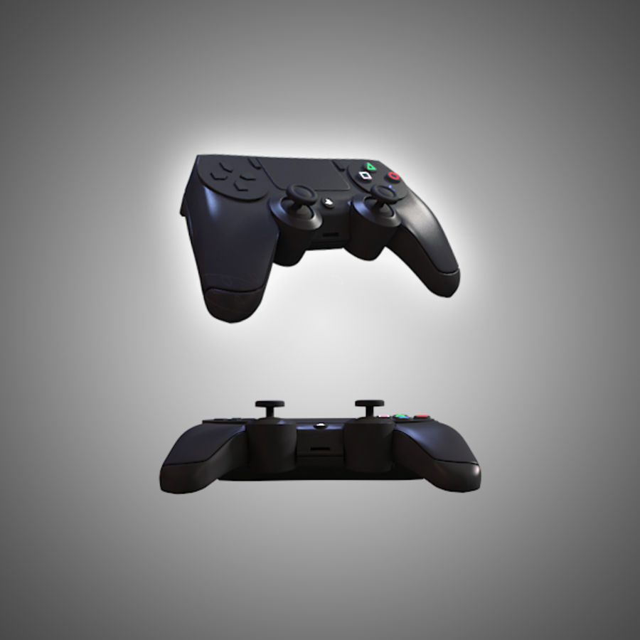 Low Res Playstation 4 Controller royalty-free 3d model - Preview no. 2