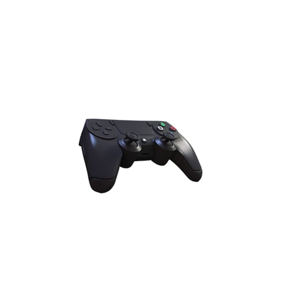 Low Res Playstation 4 Controller royalty-free 3d model - Preview no. 5