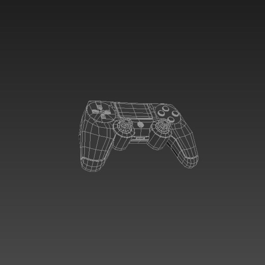 Low Res Playstation 4 Controller royalty-free 3d model - Preview no. 3