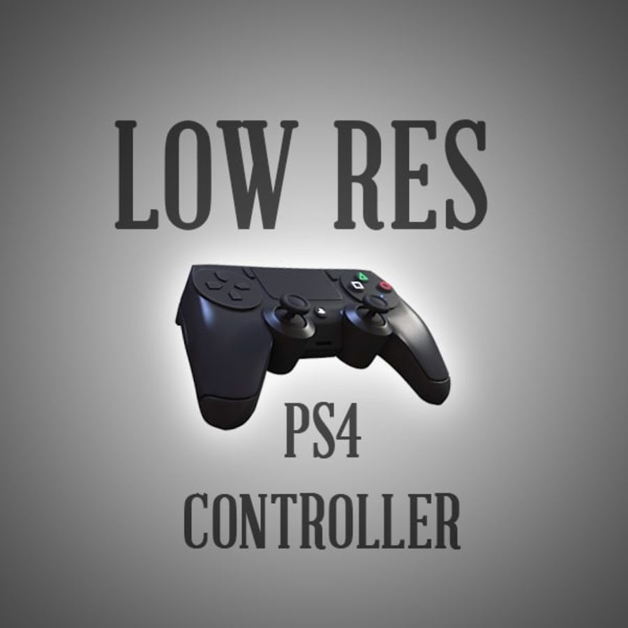 Low Res Playstation 4 Controller royalty-free 3d model - Preview no. 1