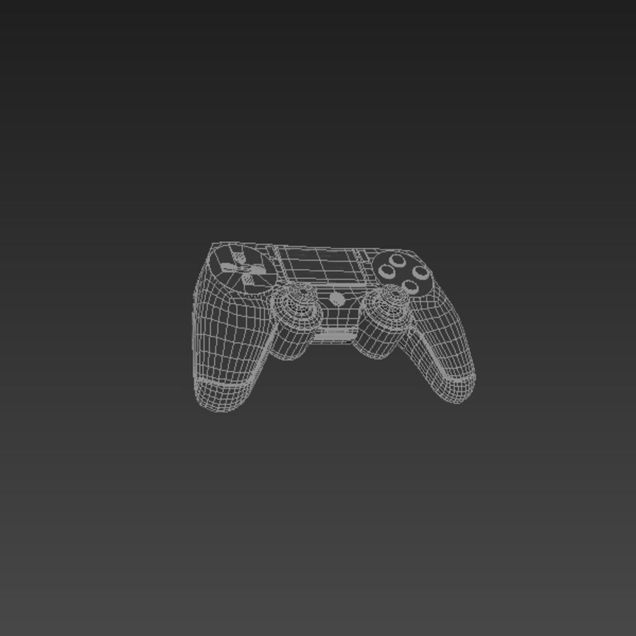 Low Res Playstation 4 Controller royalty-free 3d model - Preview no. 4