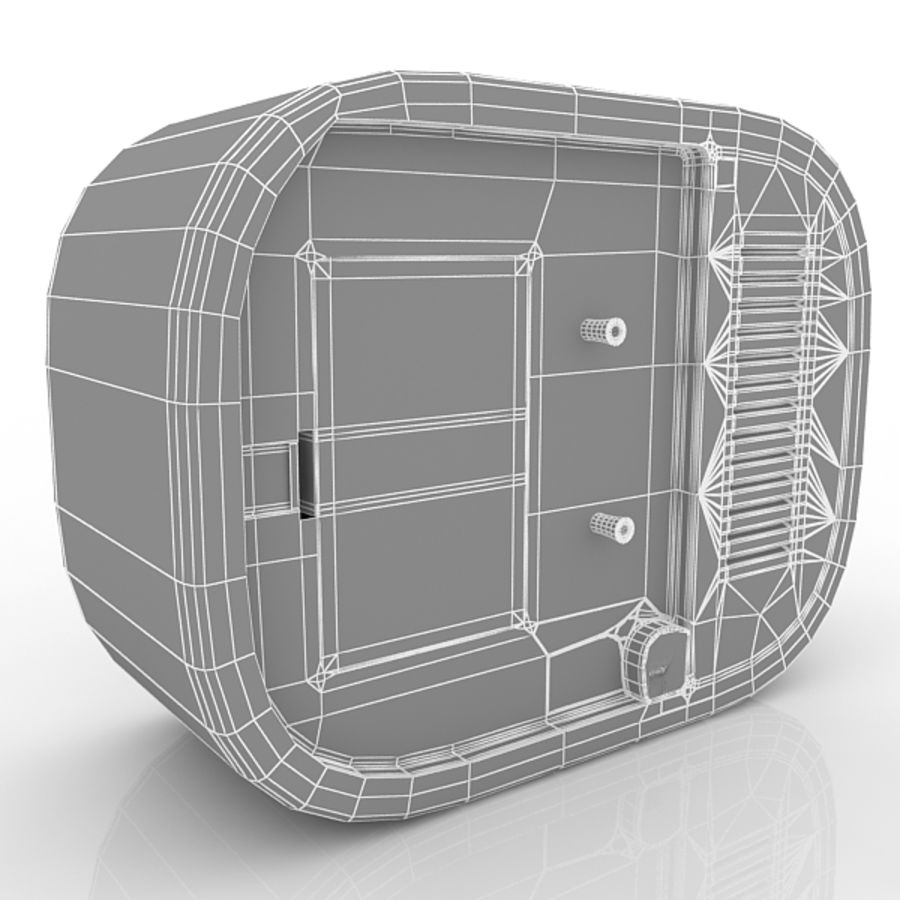 Relógio de mesa royalty-free 3d model - Preview no. 7