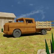 stara ciężarówka samochód rolniczy 3d model