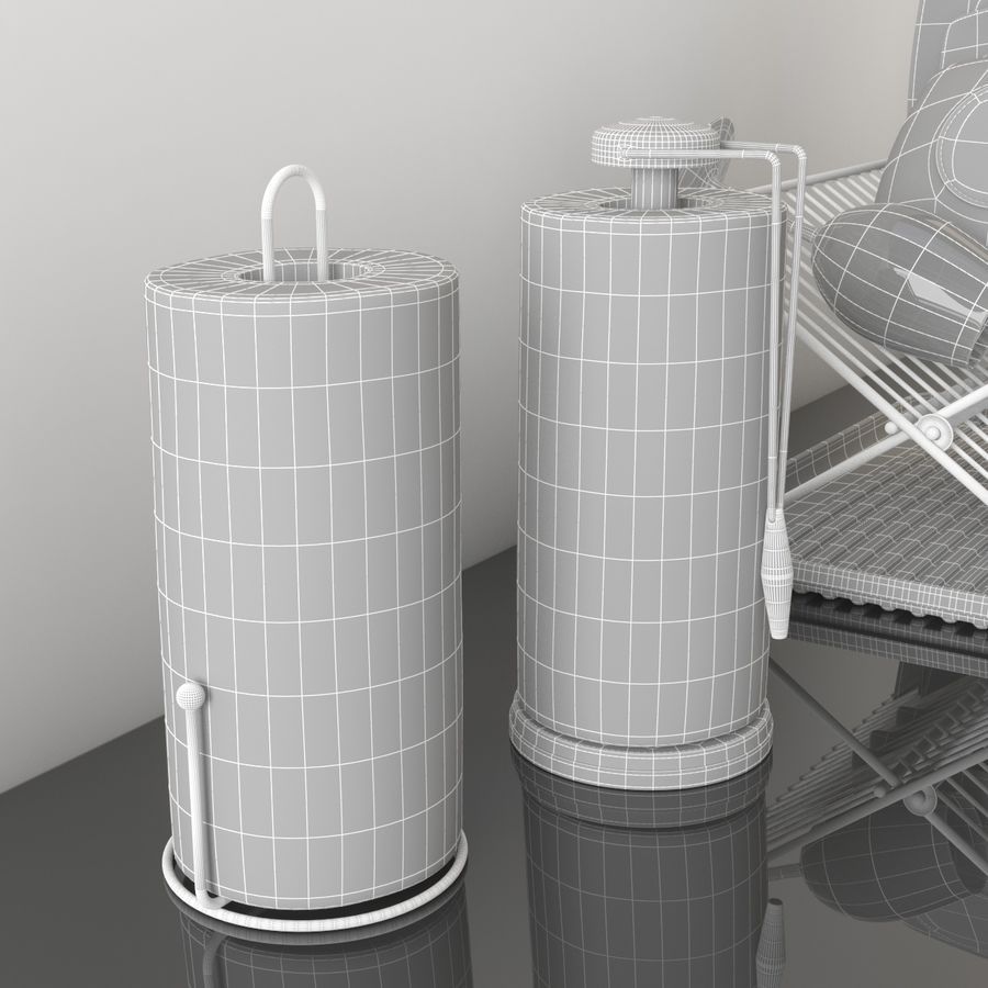 Kitchen Accessories royalty-free 3d model - Preview no. 9