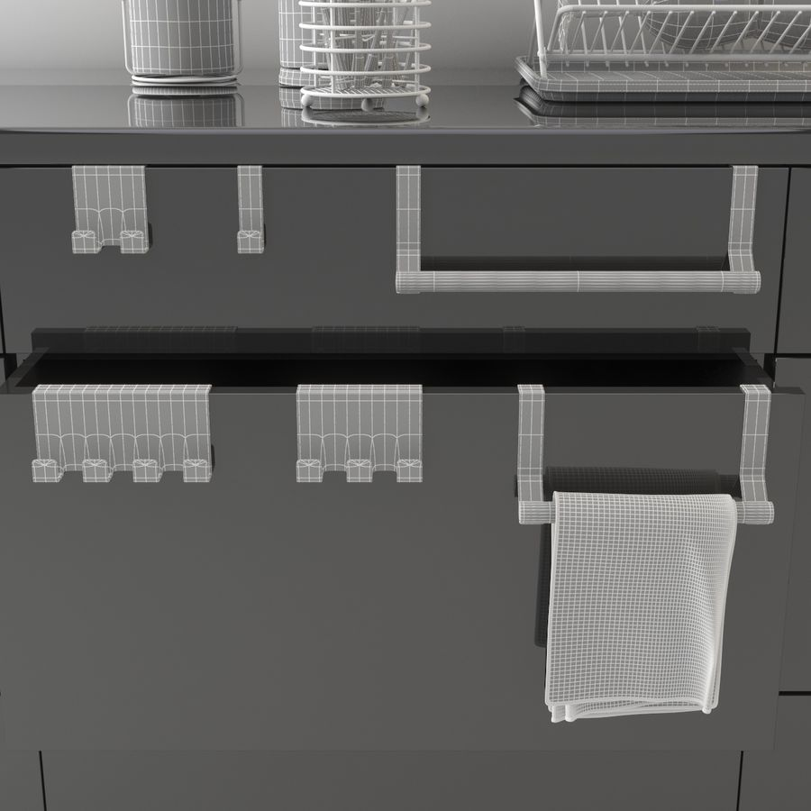 Kitchen Accessories royalty-free 3d model - Preview no. 12