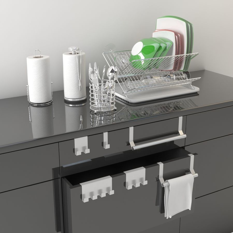 Kitchen Accessories royalty-free 3d model - Preview no. 2