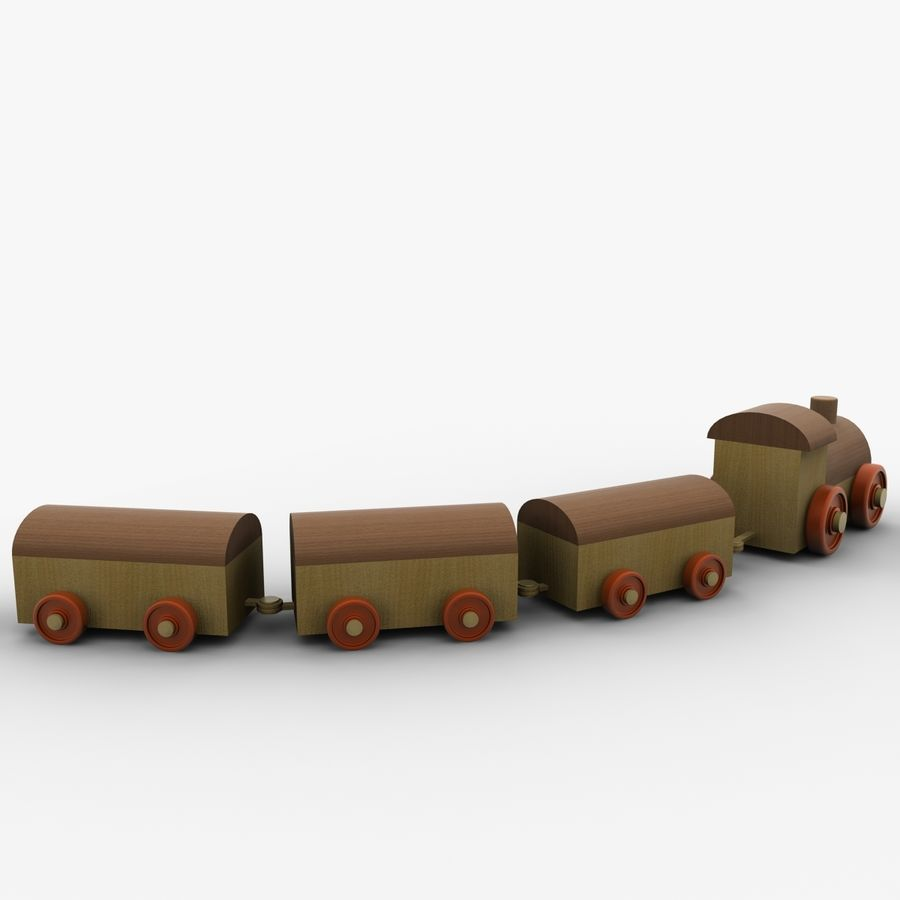 おもちゃの列車 royalty-free 3d model - Preview no. 3