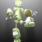 ふわふわボット 3d model