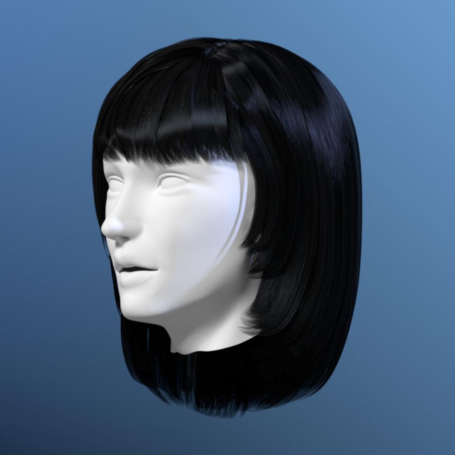 Włosy kobiety 03 royalty-free 3d model - Preview no. 1