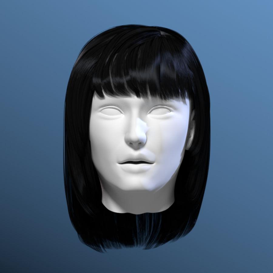 Włosy kobiety 03 royalty-free 3d model - Preview no. 2