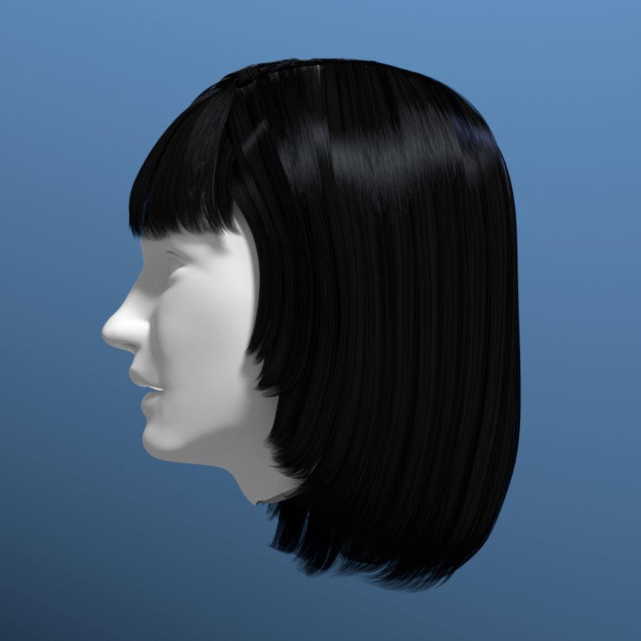 Włosy kobiety 03 royalty-free 3d model - Preview no. 3