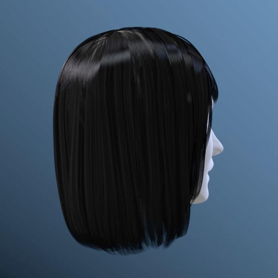 Włosy kobiety 03 royalty-free 3d model - Preview no. 4