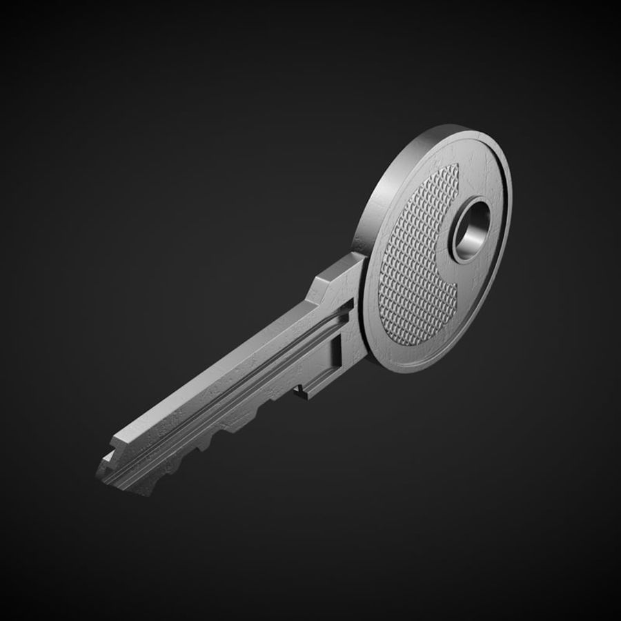 Key royalty-free 3d model - Preview no. 3