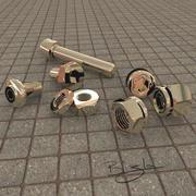 螺母和螺栓集合 3d model