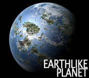 Planeta Alienígena como a Terra 3d model