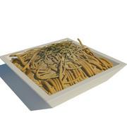 pâtes (poulet) 3d model