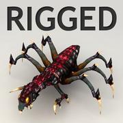 Horrific alien spider 3d model