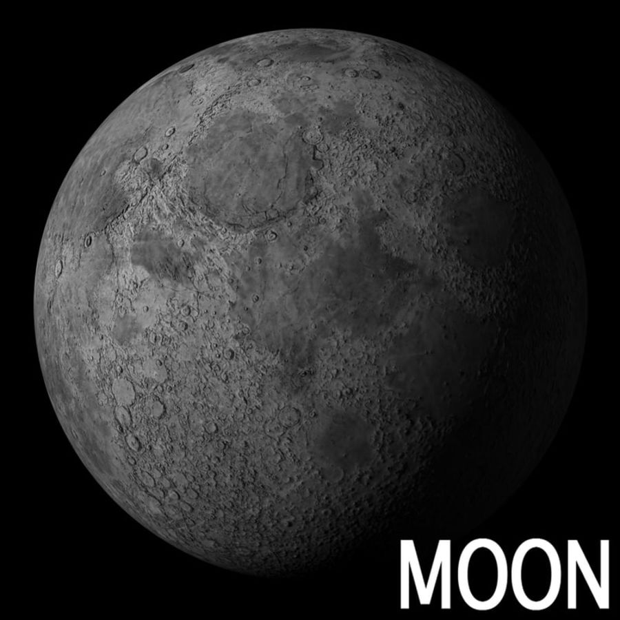 Moon royalty-free 3d model - Preview no. 1