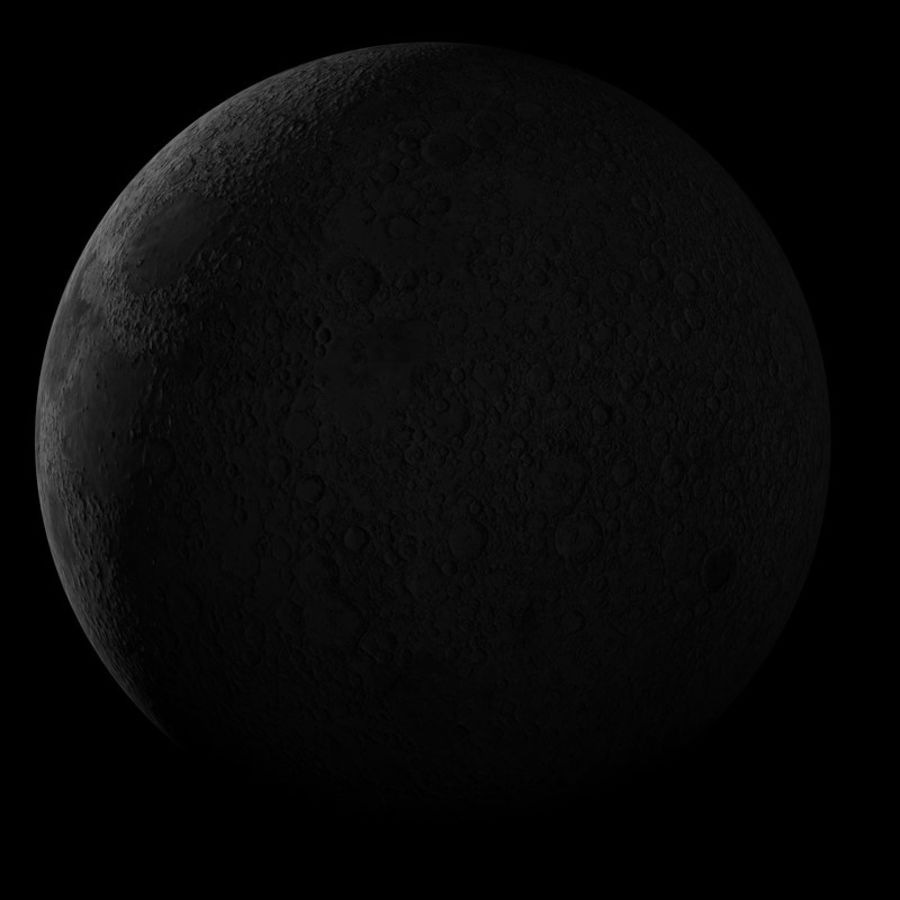 Moon royalty-free 3d model - Preview no. 6