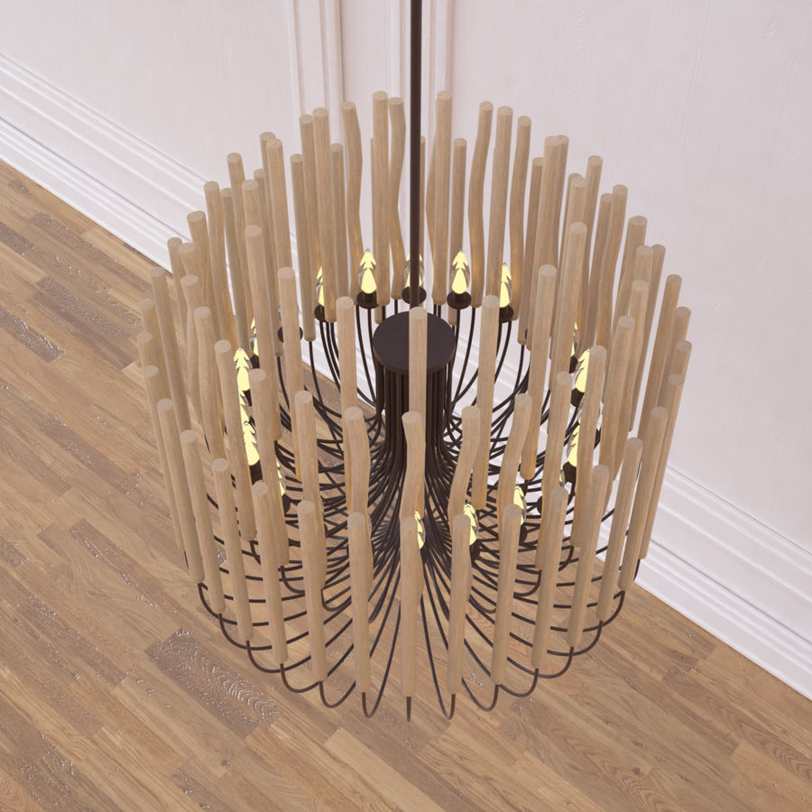 Gia Collectione Woodstick Lustre royalty-free 3d model - Preview no. 5