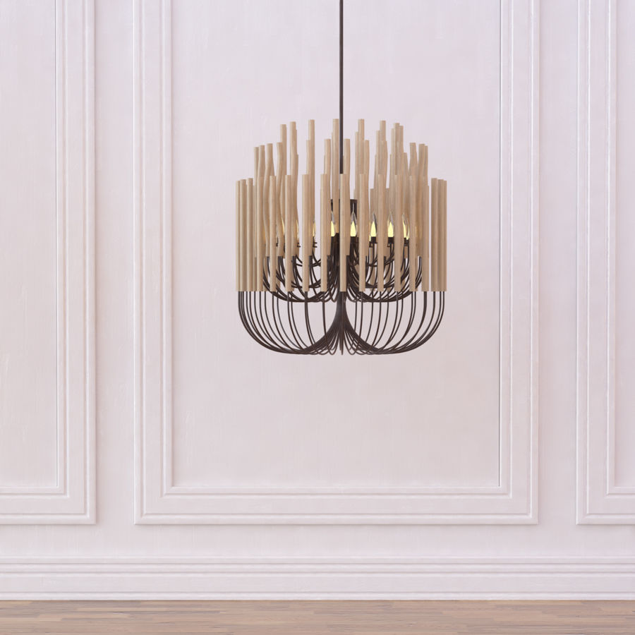 Gia Collectione Woodstick Lustre royalty-free 3d model - Preview no. 4