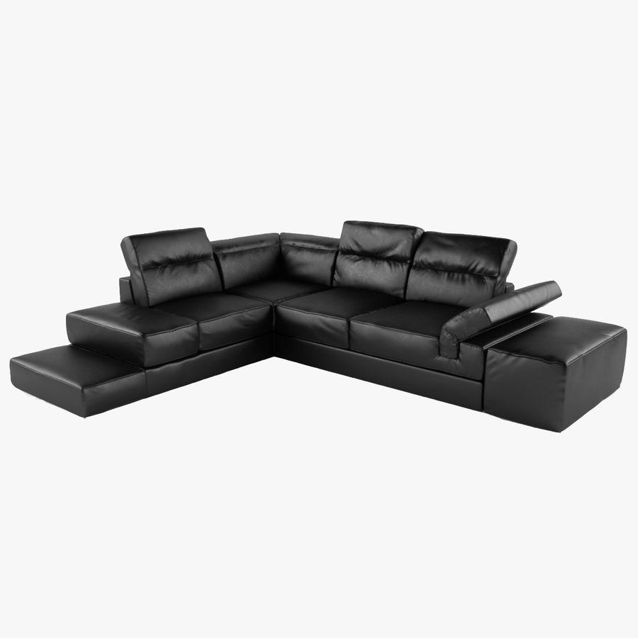 Excellent Serafina Black Leather Corner Sofa 3D Model 15 Max Obj Cjindustries Chair Design For Home Cjindustriesco