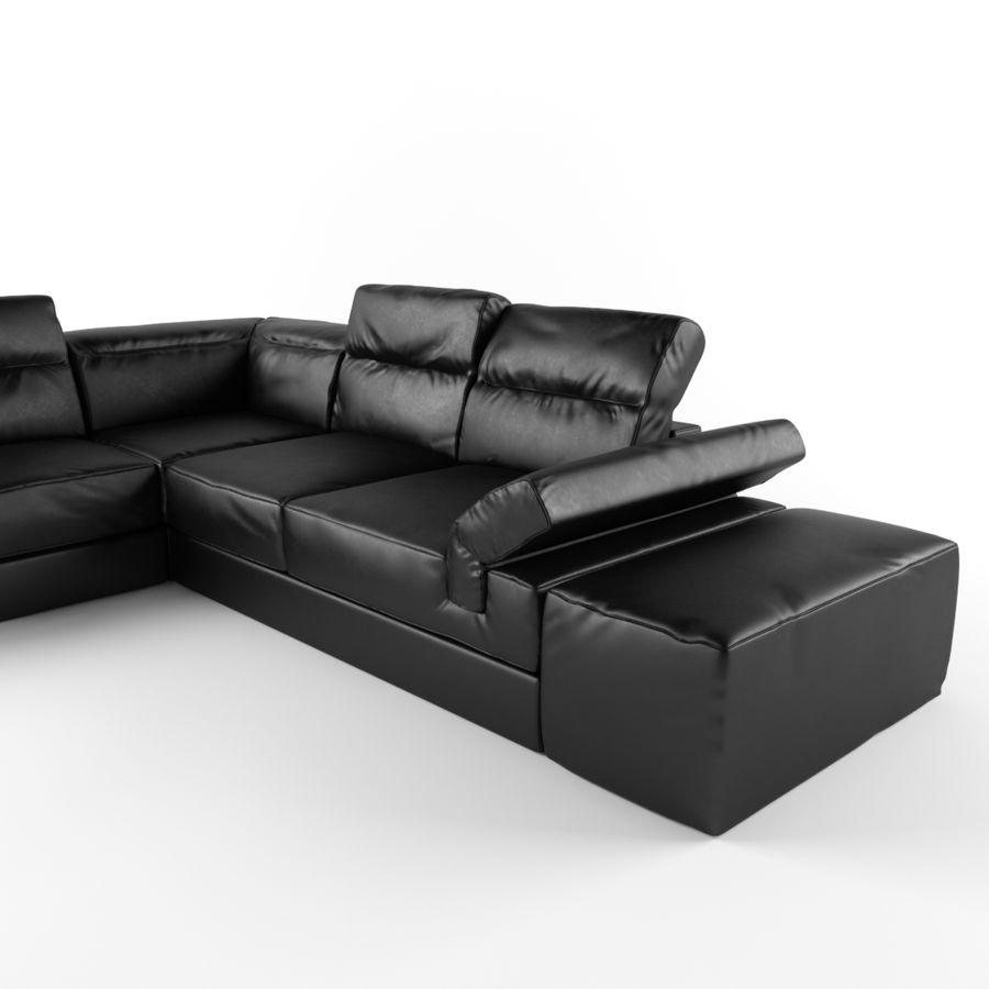 Serafina Black Leather Corner Sofa 3D Model $15 - .max .obj ...