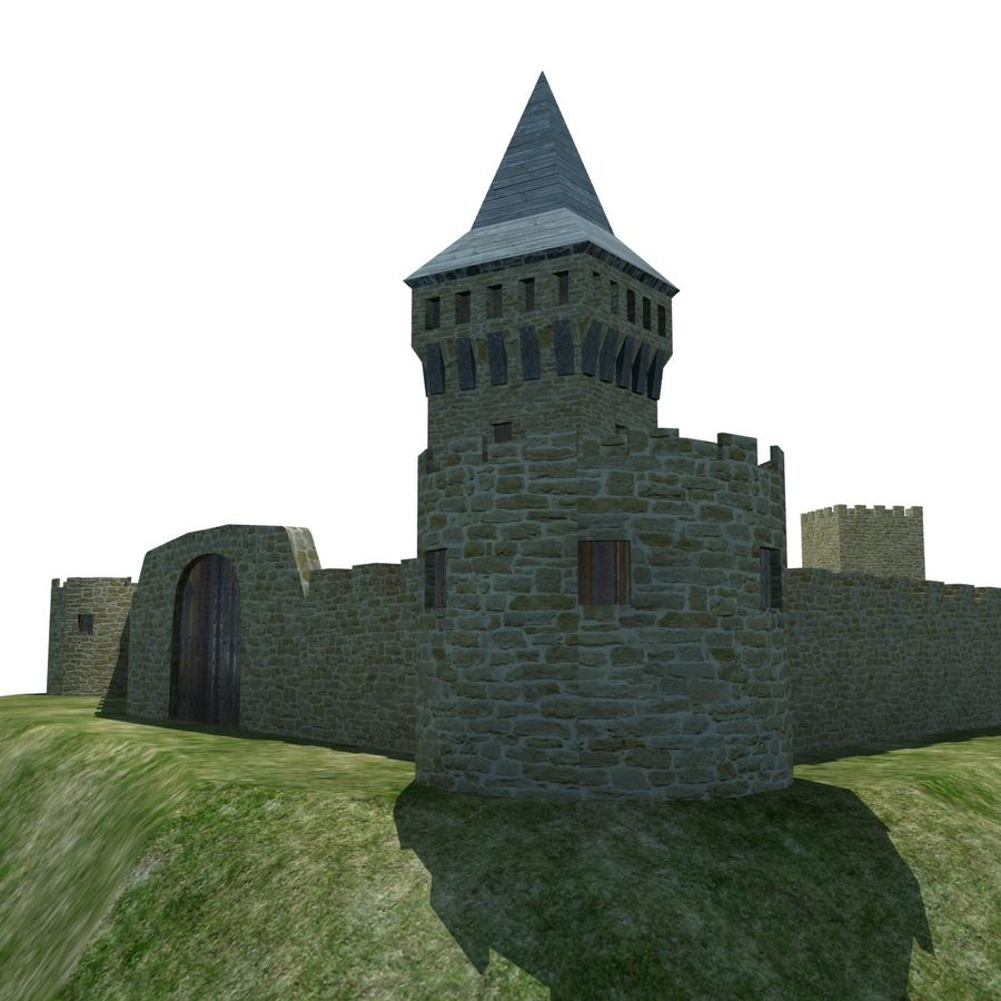 Castle 2 royalty-free 3d model - Preview no. 6