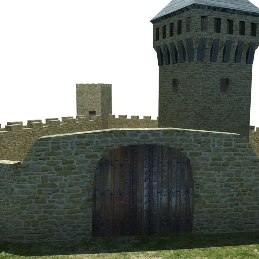 Castle 2 royalty-free 3d model - Preview no. 8