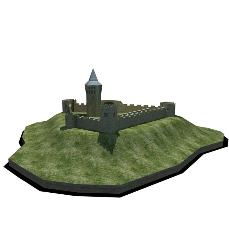 Castle 2 royalty-free 3d model - Preview no. 2