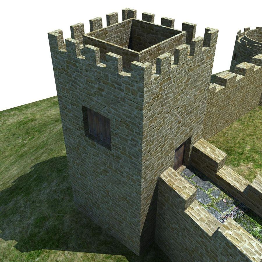 Castle 2 royalty-free 3d model - Preview no. 3