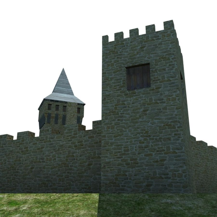 Castle 2 royalty-free 3d model - Preview no. 4