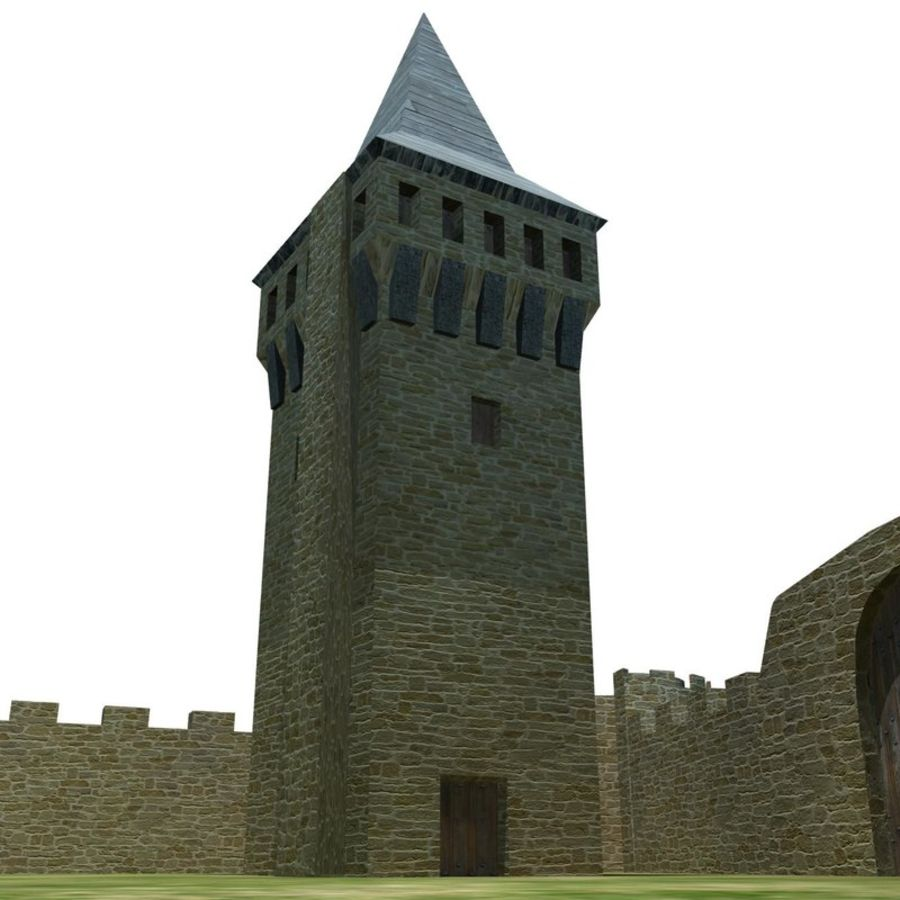 Castle 2 royalty-free 3d model - Preview no. 7