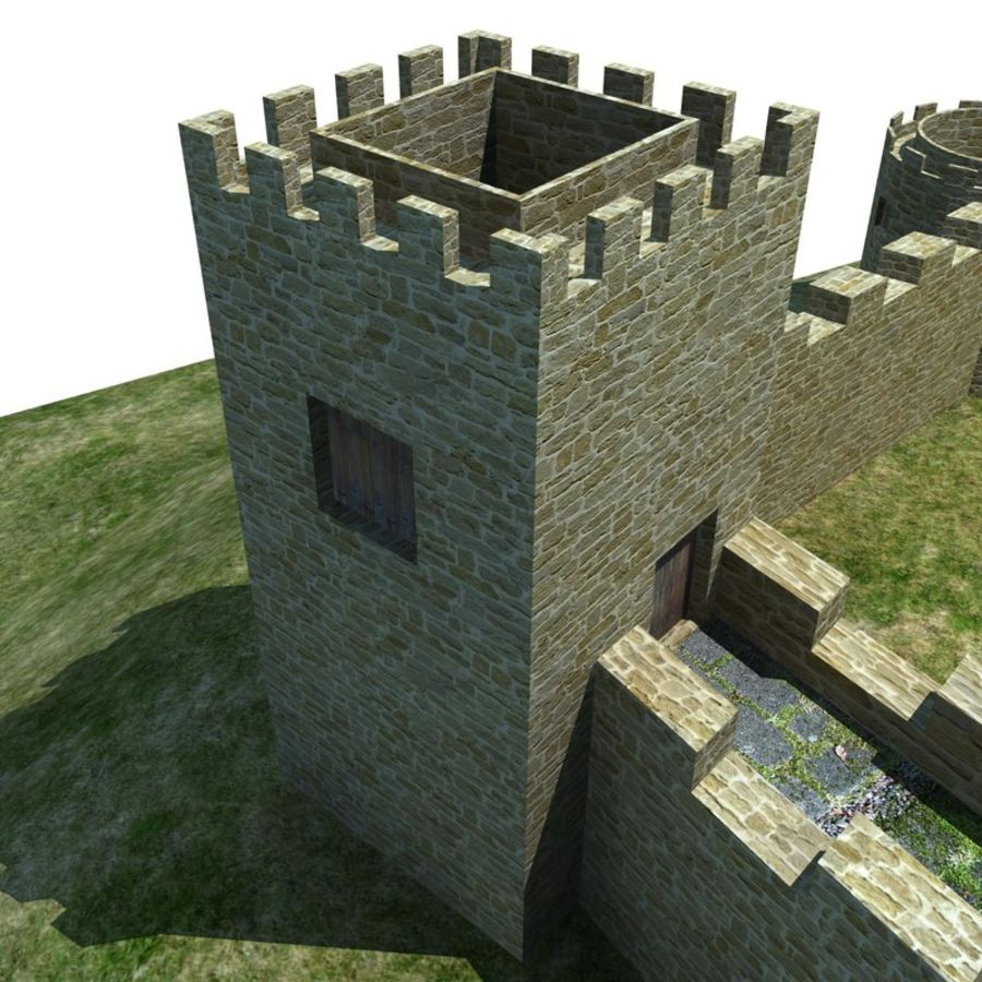 Castle 2 royalty-free 3d model - Preview no. 3
