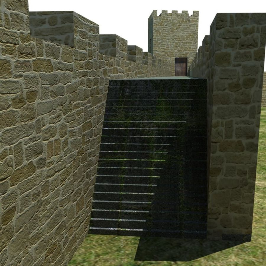 Castle 2 royalty-free 3d model - Preview no. 9