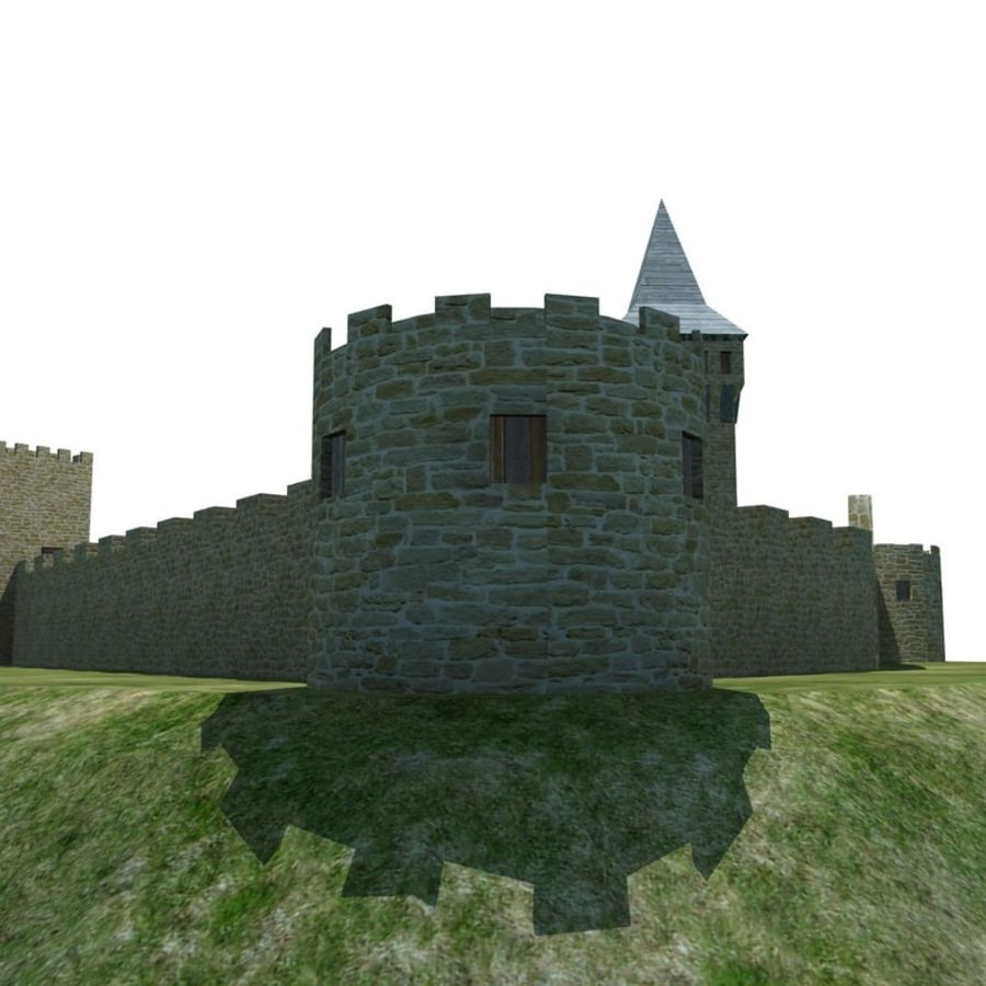 Castle 2 royalty-free 3d model - Preview no. 5