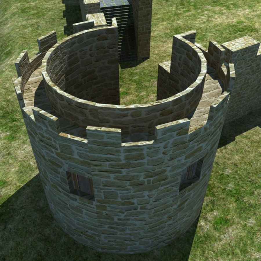 Castle 2 royalty-free 3d model - Preview no. 1