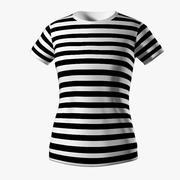 条纹衬衫的女孩 3d model