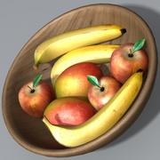 Miska owoców 3d model