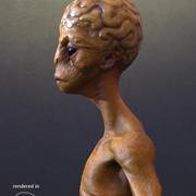 Extraterrestre modelo 3d