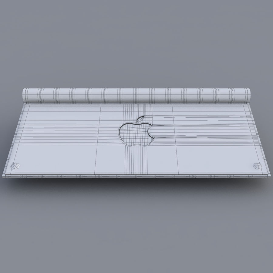 Apple Keyboard 2013 royalty-free 3d model - Preview no. 10