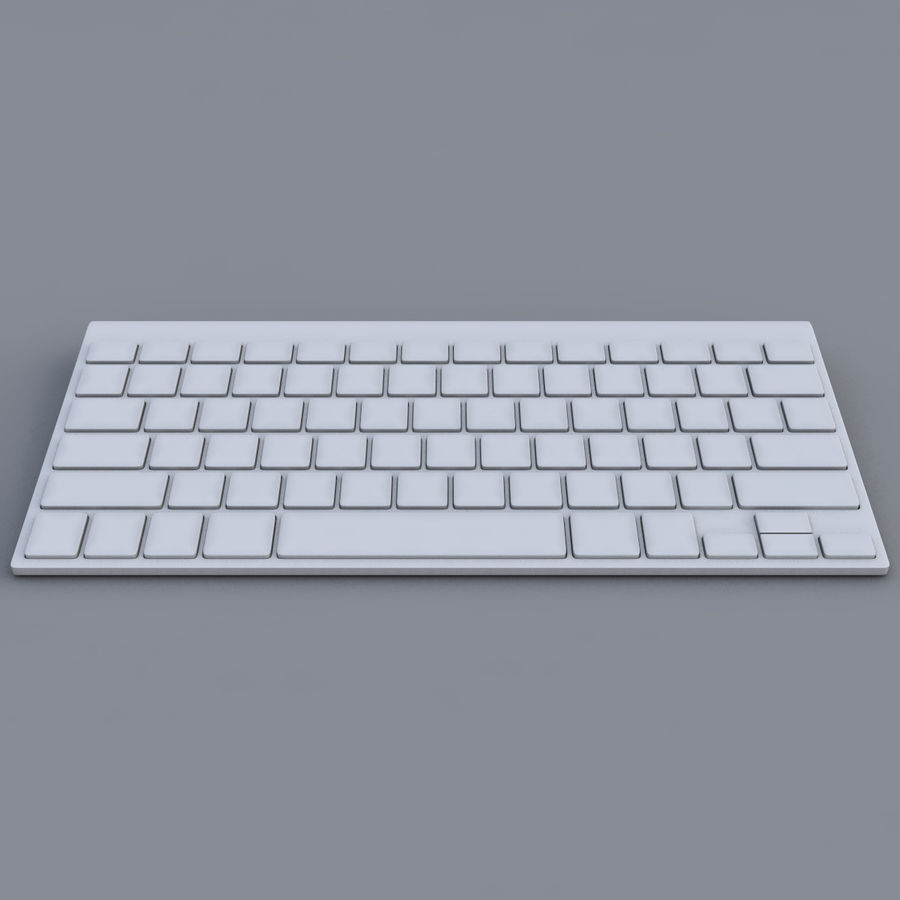 Apple Keyboard 2013 royalty-free 3d model - Preview no. 5